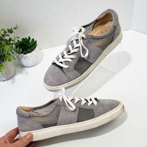 VINCE CAMUTO Breya Gray Suede Sneaker size 10